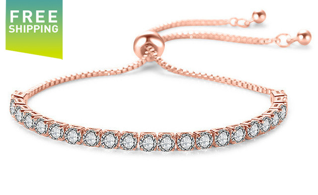 $18 for an Adjustable Swarovski Elements Tennis Bracelet - Shipping Included (a $119 Value)