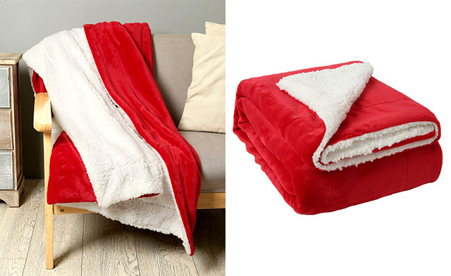 $15 for a Faux-Fur Sherpa Throw (a $65 Value)