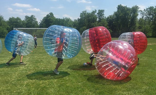 Up to 85% off a 10-Minute Bubble Soccer Bash Experience