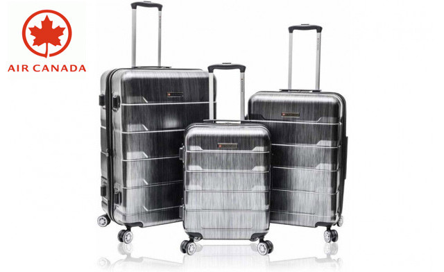 $245.90 for the Air Canada 3-Piece Lightweight Hardside Upright Suitcase Set (a $509.99 Value)