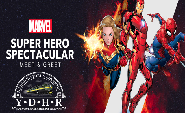 Up to 56% off a Marvel Superhero Spectacular VIP Meet and Greet Train Ride