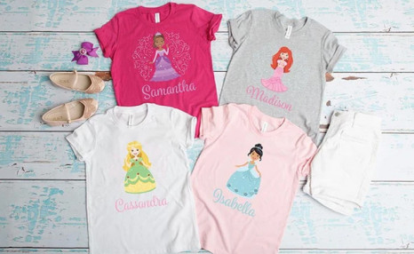 $6.99 for a Personalized Princess T-Shirt (a $26.66 Value)