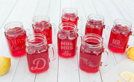 $8.49 for a Personalized Mason Jar Mug (a $26.66 Value)