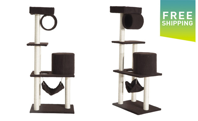 $89.95 for a PawHut 55-Inch Scratching Cat Tree - Shipping Included (a $189.99 Value)