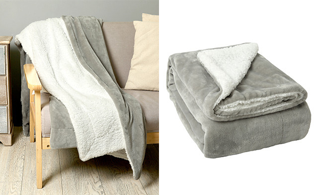 $13.78 for a Faux-Fur Sherpa Throw (a $65 Value)