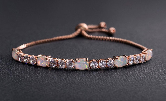 $22.93 for a Fiery Opal Adjustable Swarovski Elements Tennis Bracelet - Shipping Included (a $199 Value)
