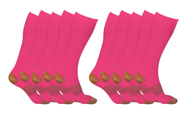 $37.99 for XFit Copper-Infused Compression Socks (5-Pack) - Shipping Included (a $138 Value)