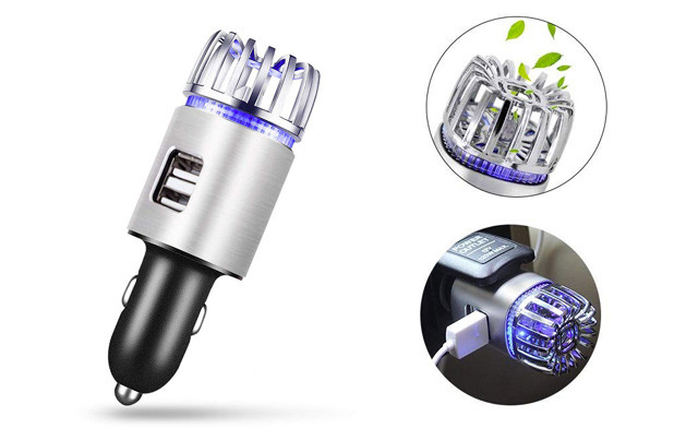 $21 for a Flow Car Air Purifier with Dual USB Charger (a $38 Value)