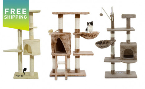 Up to 75% Off PawHut Cat Trees - Shipping Included
