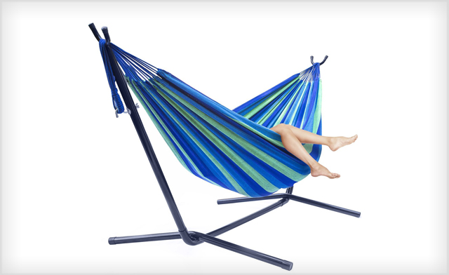 $89 for a 2-Person Double Hammock w/ Steel Stand with Carrying Case (a $184 Value)