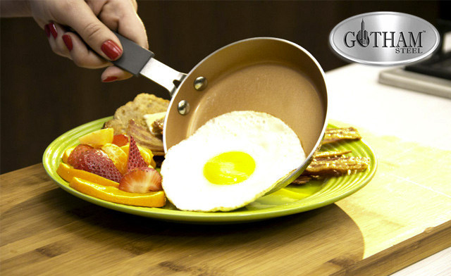 $14.90 for a Gotham Steel Diamond Hammered Copper 5.5-Inch Frying Pan (a $22 Value)