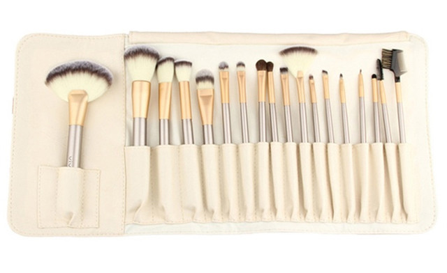 $14 for a 24-Piece Champagne Makeup Brush Set (a $86 Value)