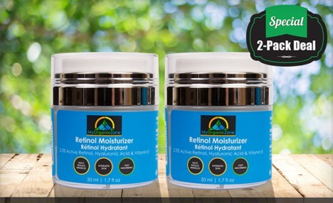$39.99 for a 2-Pack of Retinol Moisturizer Cream (a $99.90 Value)