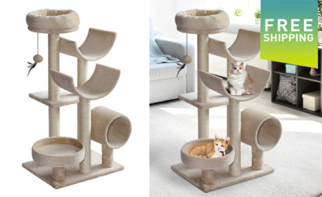 $79.99 for a PawHut 41-Inch Multi-Level Cat Tree - Shipping Included (a $149.99 Value)