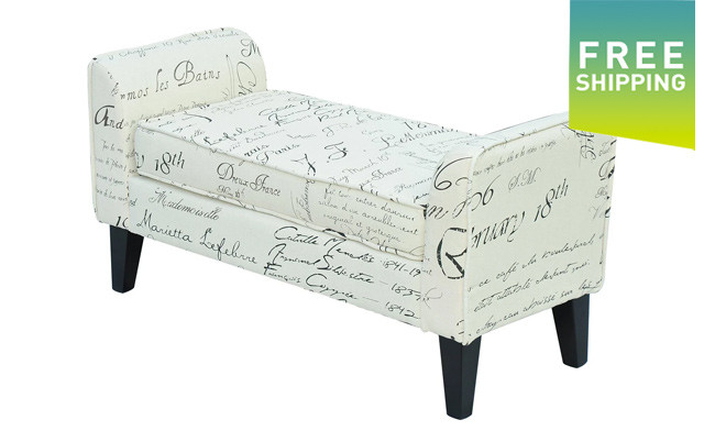 $149 for a HomCom Scripted Ottoman Bench - Shipping Included (a $239.99 Value)