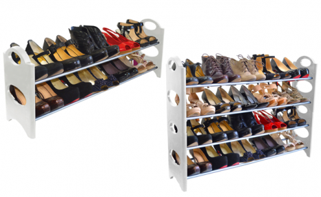 Click to view Up to 75% off a 10-, 20- or 50-Pair Shoe Rack