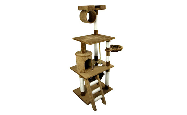 $149 for a PawHut 61-Inch Cat Scratching Tree with Ladder - Shipping Included (a $259.99 Value)