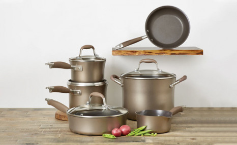 Click to view $249.90 for a 10-Piece Anolon Advanced Bronze Hard Anodized Cookware Set (a $749.99 Value)