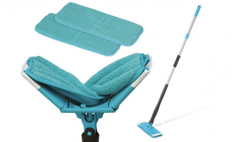 Click to view $15.99 Self-Wringing Microfiber Flat Mop with 2 Extra Mop Heads (a $29 Value)