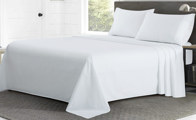 Up to 59% off a 4-Piece 100% Cotton Sheet Sets - 800 Thread Count