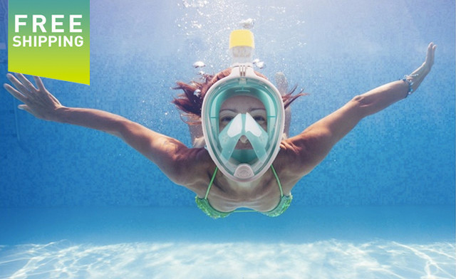 Click to view $39.95 for a BreathFree GoPro Compatible Snorkel and Scuba Mask - Shipping Included (a $199.99 Value)