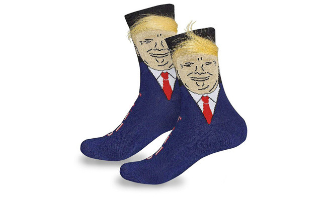 $21 for a Pair of Donald Trump or Bernie Sanders Novelty Socks - Shipping Included (a $29 Value)