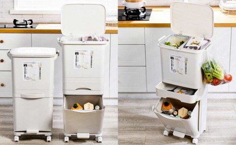 Click to view $54.90 for a 48L Double Layer Sorting Trash Can (a $120 Value)