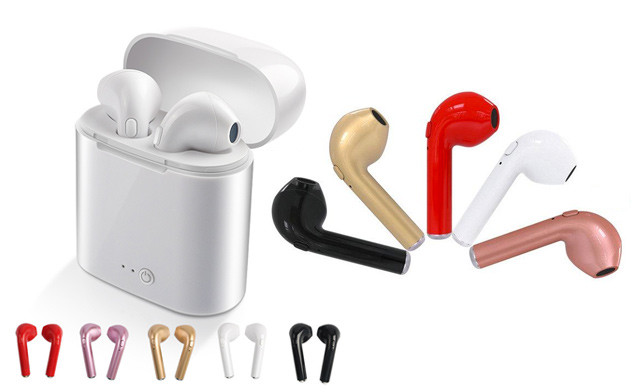 Up to 83% Off Wireless Earbuds with Charging Box and Built-In Microphone