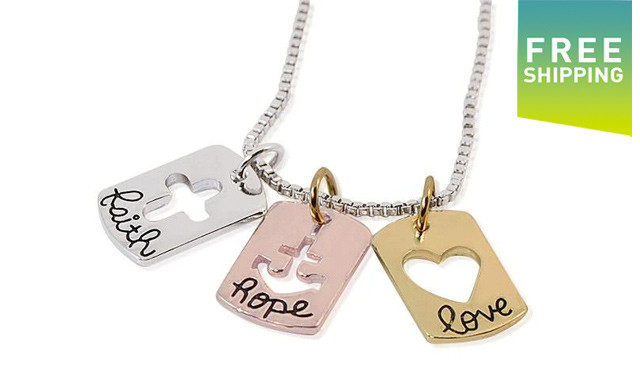$15 for a Faith, Hope and Love Necklace - Shipping Included (a $49 Value)