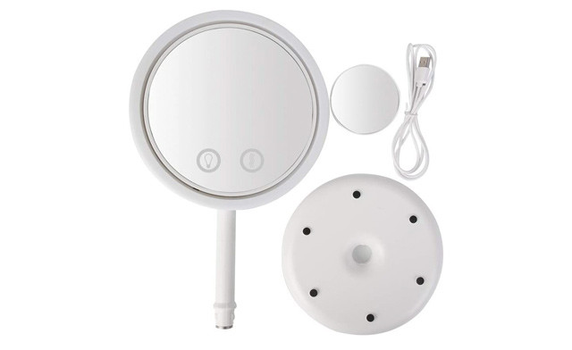 $20.90 for an Extra Bright Makeup Mirror with Cool Breeze Fan & Suction Cup Mirror (a $35.99 Value)
