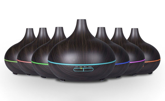 $44.90 for an LED Wood Grain Essential 300mL Oil Diffuser (a $79.99 Value)