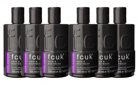 $29.99 for 6 FCUK Vintage Hair & Body Wash (a $54 Value)