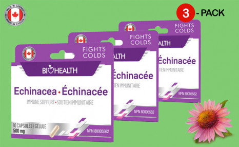 Click to view $17.90 for 30 Capsules of Echinacea - 500mg (a $29.80 Value)
