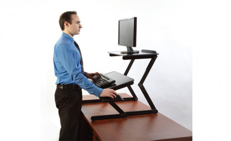 Click to view Up to 45% off a Standing Desk Top Extender and Extra Shelf