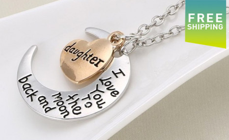$12 for a Love You to the Moon and Back Necklace (a $73 Value)