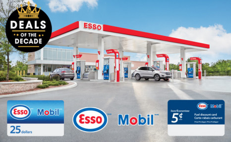 Esso™ and Mobil™: A 5 cent Fuel Discount and Gift Card Bundle