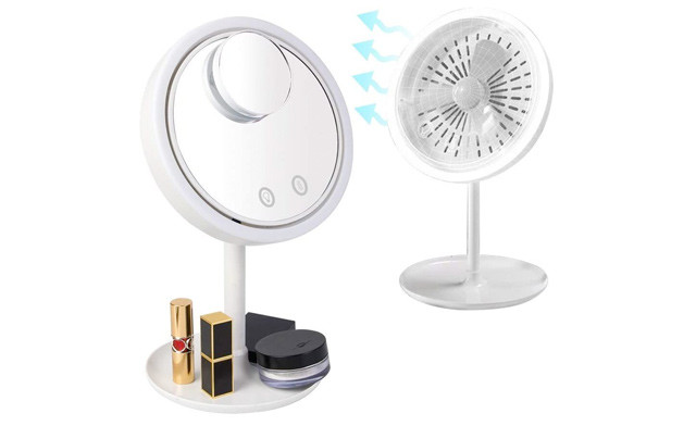 $20.90 for a Makeup Mirror with Fan (a $35.99 Value)