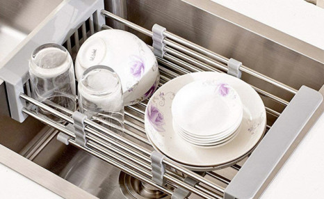 Click to view $19 for an Over-the-Sink Drainer & Organizer (a $29 Value)