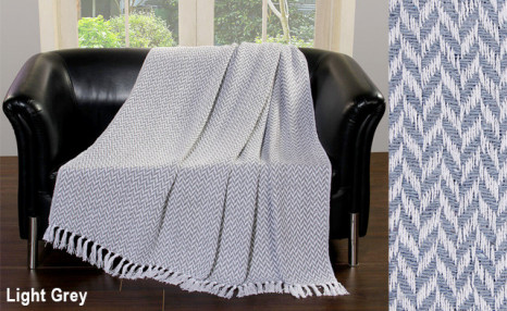 Click to view $19 for a Chevron Cotton Throw Blanket (a $49 Value)