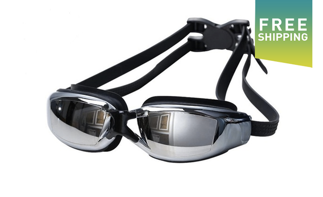 Click to view $21.95 for UV-Protected Swimming Goggles (a $111.99 Value)