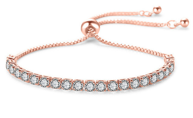 Click to view $14.86 for an Adjustable Tennis Bracelet (a $119 Value)