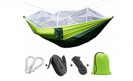 Click to view $38.63 for a Hammock with Mosquito Net (a $79 Value)