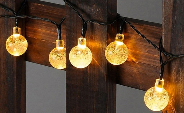 $12.90 for Solar-Powered Waterproof Crystal Ball String Lights (a $29.99 Value)