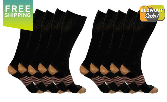 Click to view $34.90 for a 5-Pack of XFit Compression Socks (a $138 Value)