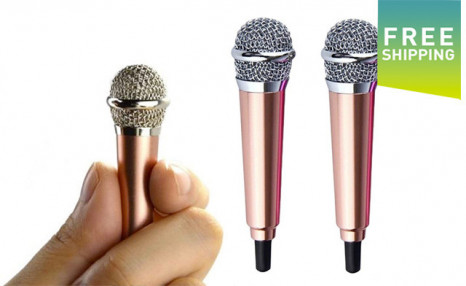 Click to view $15.90 for 2 Mini Microphones (a $35 Value)