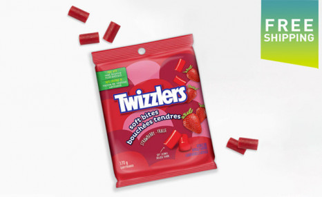 Click to view $27.95 for a 12-Pack of TWIZZLERS Strawberry Soft Bites - 170g (a $53.88 Value)