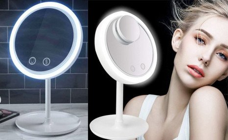 Click to view $20.90 for a Makeup Mirror with Fan (a $35.99 Value)