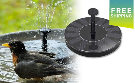 Click to view $26.99 for an Automatic Solar Garden Fountain (a $58.99 Value)