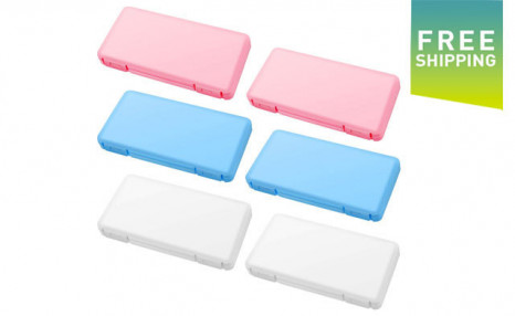 Click to view $34.99 for 6 Reusable Plastic Face Covering Storage Boxes (a $49 Value)