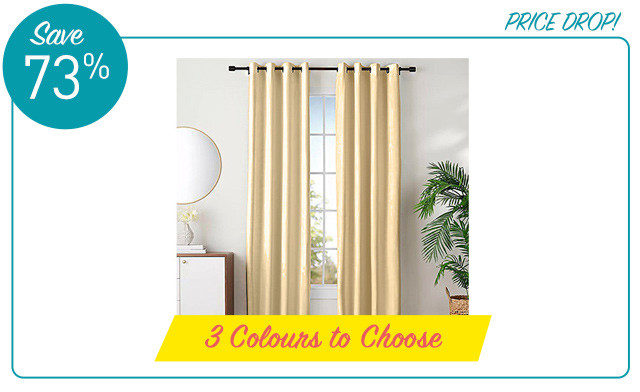 $16.96 for Kayla Grommet Blackout Curtains (a $62.99 Value)